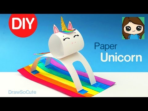 How to Make a Unicorn Easy | Fun Paper DIY Animals