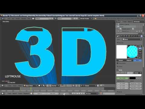 Blender Tutorial: Hologram Text Effect