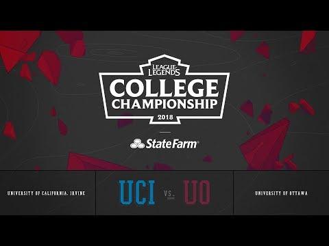 Ottawa U vs UC Irvine | QuarterFinals Game 1 | 2018 College Championship | UO vs UCI