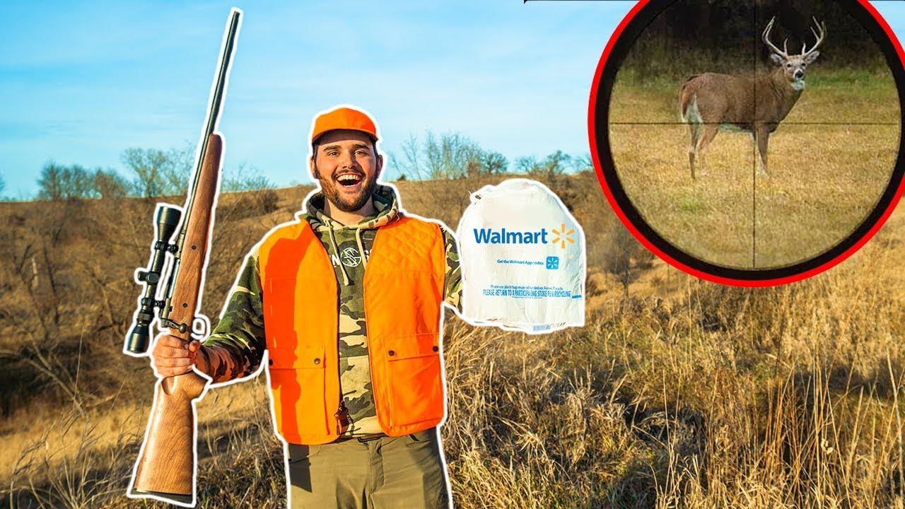 Walmart DEER HUNTING Challenge!!! (CATCH CLEAN COOK)