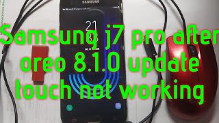 samsung j210f touch not working after update, touch not working