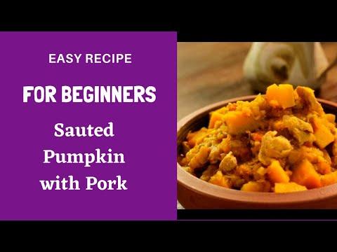 Motherbee's Guinisang Kalabasa (Sauted Pork and Pumpkin)