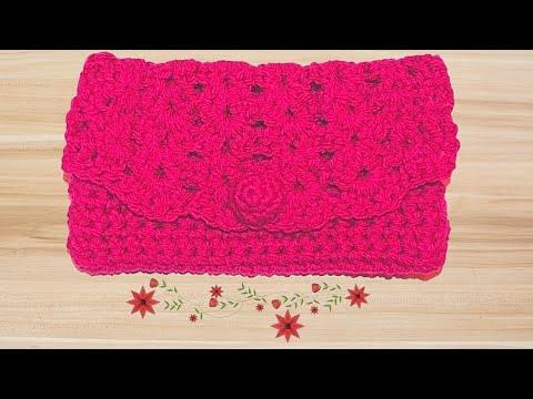 How to Crochet a Clutch Purse Tutorial - Crochet Jewel