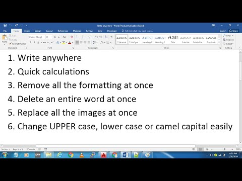 Top 6 MS word tricks that will make you expert | write anywhere | quick calculations | delete a word