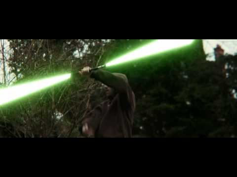 Double Bladed Lightsaber and Lightning