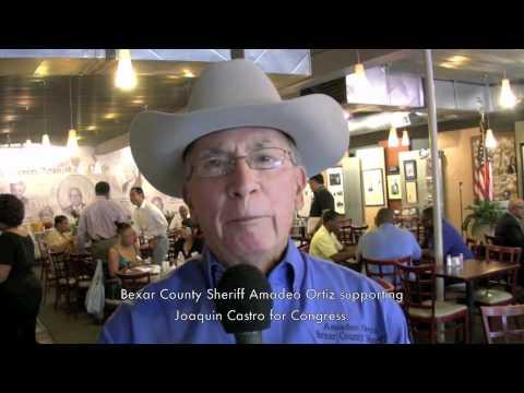 Bexar County Sheriff Amadeo Ortiz supporting Joaquin Castro