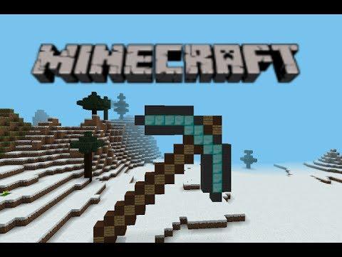 Minecraft PE Pixel Art : Diamond Pickaxe
