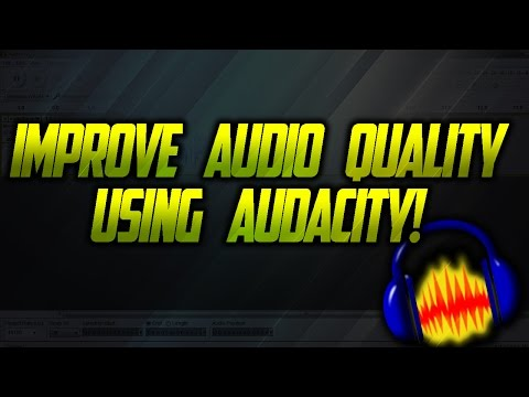 improve audio quality by using audacity!