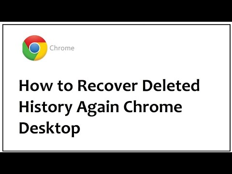 How to Recover Deleted History Again Chrome Desktop