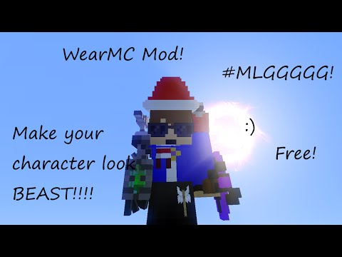 Minecraft WearMC Mod Tutorial! Make your character look MLG!