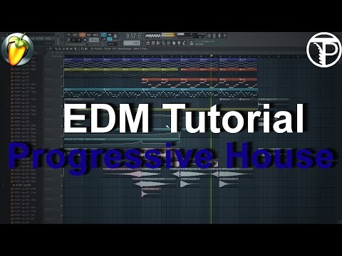 EDM Progressive House Tutorial(Intro, BuildUp, Bassline, Chords, Lead, Arrangement) Fl Studio