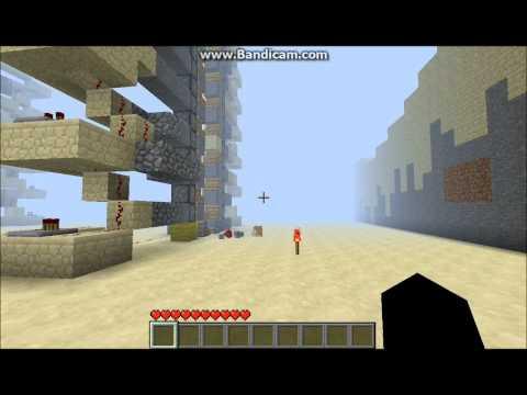 Minecraft Tutorial:  Piston Elevator(Zipper) Pt 1 (Extended Demo)