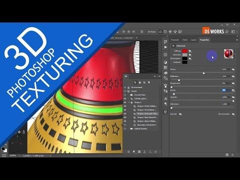 PHOTOSHOP 3D Texturing   Beginner TUTORIAL Part-2