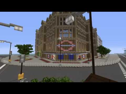 MINECRAFT LONDON UNDERGROUND, TUBE STATION AND TUBE TRAIN