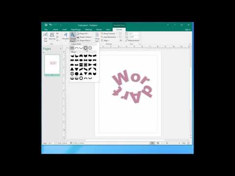 Microsoft publisher 2016 tutorial 04 - work with wordart