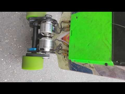 custom made electric skateboard - THIS GUY MAKES THE FASTEST BOARDS - RACING SPEED -