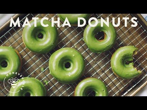 Matcha Green Tea Baked Donuts - Honeysuckle