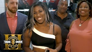 Ember Moon and her family get ready for TakeOver: Brooklyn III: Exclusive, Aug. 19, 2017