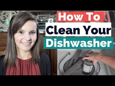 How To Clean Your Dishwasher With Vinegar and Baking Soda | Faiths Attic