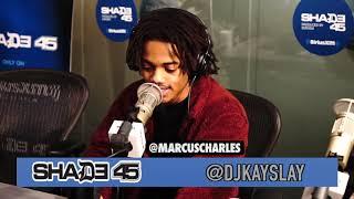 Marcus Charles stops by Dj Kayslay show at Shade 45