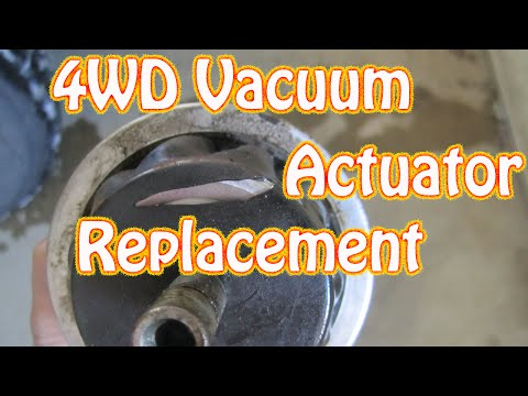 DIY How to Replace a 4WD Vacuum Actuator on a Chevy Blazer GMC Jimmy S10 Four Wheel Drive