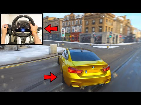 Download Forza Horizon 4 Drifting BMW M4 in Snow (Steering