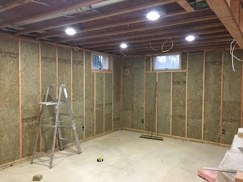 Finishing My Basement - Roxul Insulation and Ready for Drywall