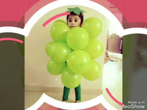 Fancy dress ideas | grapes dress |how to make grape dress for kids /school days | yamee | yummy 😋