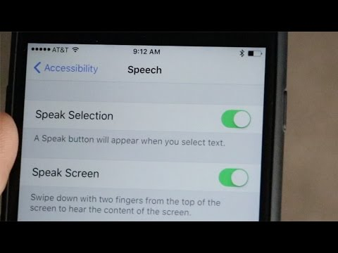 How To Pronounce Words using iPhone Speak Text Accessibility Features