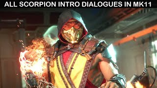 Mortal Kombat 11 - All Scorpion Intro Dialogues (COMPLETE)