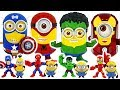 Marvel Heros And Minions Combination Transform Avengers Minion DuDuPopTOY