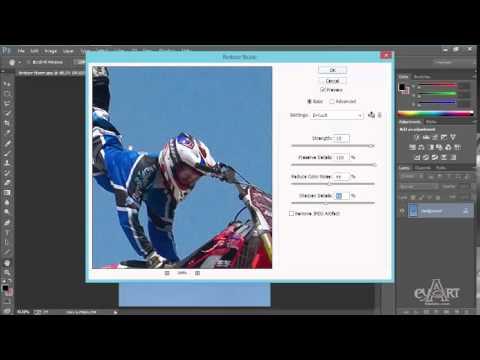Hướng dẫn khử nhiễu hạt trong photoshop