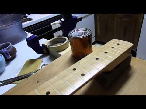 Stratocaster neck refinish