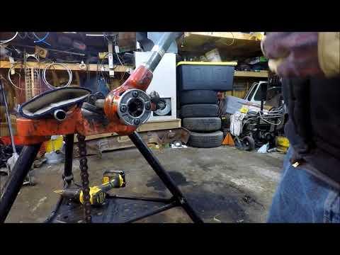 How to thread black iron pipe beginner stuff