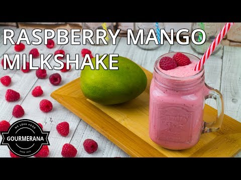 How To Make A Mango Raspberry Milkshake - Stop Motion Animation Recipe
