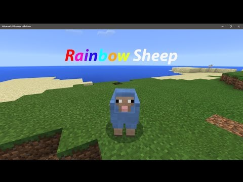 How to turn any sheep into rainbow - Minecraft PE