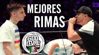 Las MEJORES RIMAS del MUNDIAL DE FREESTYLE - GOD LEVEL FEST MÉXICO 2019 [3vs3]