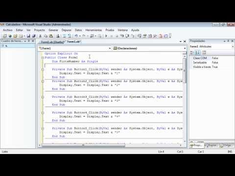 Tutorial Visual Studio 2008 - Como Hacer una Calculadora