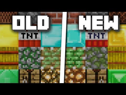 Minecraft: Old vs New Texture Pack Comparison