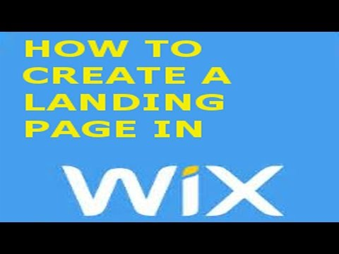 How to create a Landing page in Wix