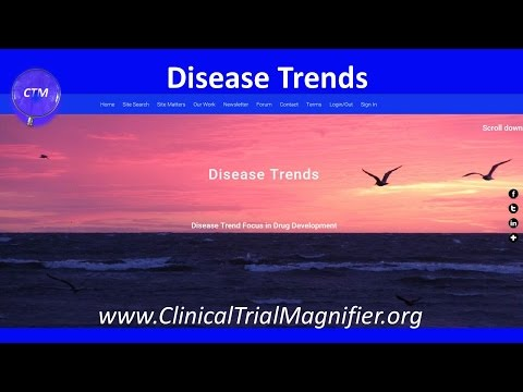 CLINICAL TRIAL MAGNIFIER   Disease Trends   Video