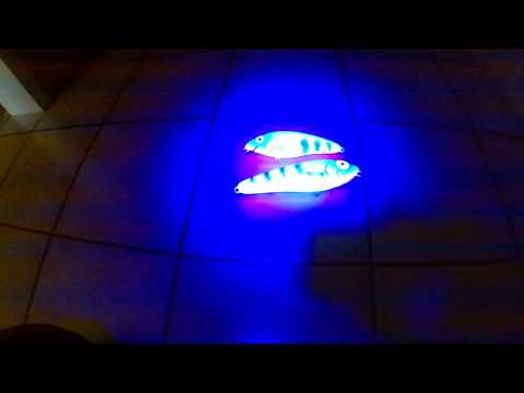 Invisible UV active fluorescent paint , new lures