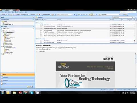 Adding HTM Outlook Signature