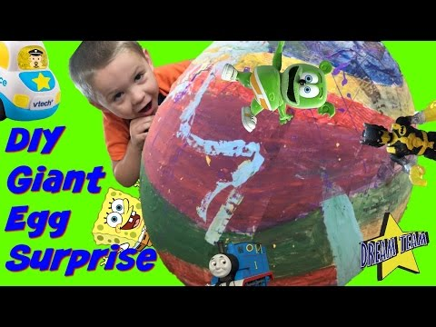 How To Make A Giant Surprise Egg! DIY - Homemade! Surprise Toys Inside!