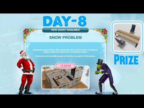 Simsfreeplay - Snow Problem Quest Day - 8 Christmas Holiday Update 2017