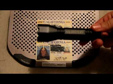 Inspect Drivers License using UV light