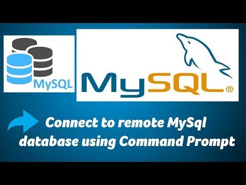 Connect to remote MySql database using Command Prompt