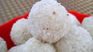 नारियल के लड्डू केवल 5 मिनट में बनायें, मिलावटी मिठाइयों से पीछा छुड़ायें Coconut Laddu Recipe