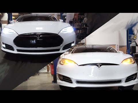 I Gave my Tesla a Facelift!!! Update to 2013 Model S Front Fascia
