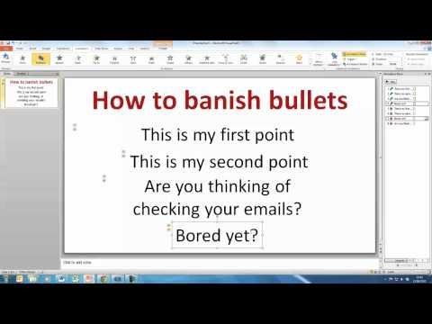 PowerPoint: How to create a bullet point template slide